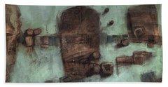 Symbol Mask Painting - 05 Beach Towel by Behzad Sohrabi