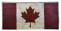 Wooden Canadian Flag Beach Towel