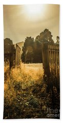 Wooden Fence With An Open Gate Beach Towel