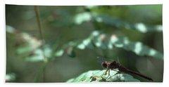 Woodland Dragonfly Beach Towel