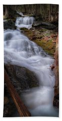 Beach Towel featuring the photograph Woodland Falls 2017 by Bill Wakeley