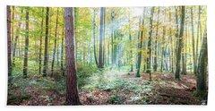 Woodland In Fall Beach Towel