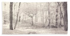 Beach Towel featuring the photograph Woodland by Keith Elliott