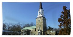 Woodlawn Cemetery Chapel Beach Towel