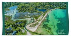Woodneck Beach At 400 Feet Beach Towel
