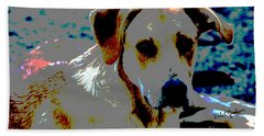 Woodrow The Pop Art Dog  Beach Towel