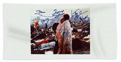 Woodstock Album Cover Signed Beach Sheet