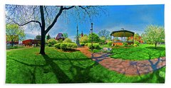 Woodstock Square Historic District 360 Spring Beach Towel