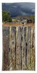 Woodworm Art Picket Fence Beach Towel