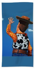 Woody Of Toy Story Beach Towel by Paul Meijering