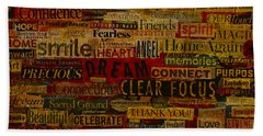 Words Matter Beach Towel