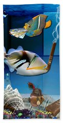 Order, Order, Order, Going Shopping Saltwater Triggerfish Beach Towel