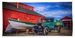 Work Truck, Mystic Seaport Museum Beach Towel