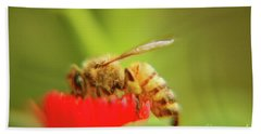 Beach Towel featuring the photograph Worker Bee by Micah May
