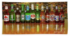 Beach Towel featuring the photograph World Beers By Kaye Menner by Kaye Menner