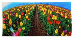 World Of Tulips Beach Sheet
