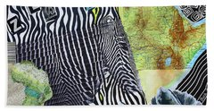 World Of Zebras Beach Towel