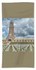 Beach Towel featuring the photograph World War I Memorial At Verdun France by John Noyes and Janette Boyd