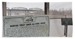 Worlds First Large All Steel Bridge Beach Towel