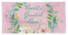 World's Greatest Mom Beach Sheet