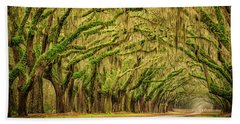 Beach Sheet featuring the photograph Wormsloe Drive by Phyllis Peterson