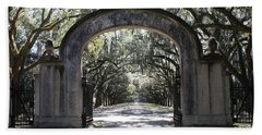 Wormsloe Plantation Gate Beach Sheet