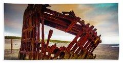 Worn Rusting Shipwreck Beach Towel