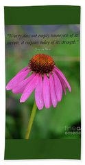 Worry Coneflower Beach Sheet