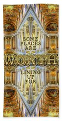 Worth Lining Up For Versailles Palace Chapel Paris Beach Towel