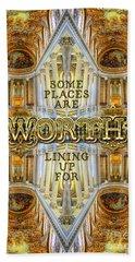 Worth Lining Up For Versailles Palace Chapel Paris Beach Sheet