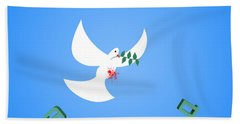 Wounded Dove Symbol Of Peace  Beach Towel