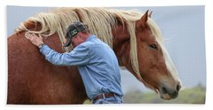 Wrangler Jeans And Belgian Horse Beach Towel