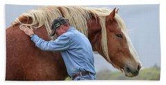 Wrangler Jeans And Belgian Horse Beach Sheet