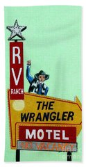 Wrangler Motel Beach Towel