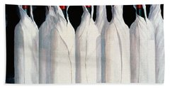Wrapped Wine Bottles  Number One Beach Towel