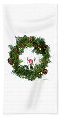 Beach Sheet featuring the digital art Wreath With Rose by Lise Winne