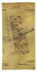 Wright Brothers Flying Machine Patent Beach Towel