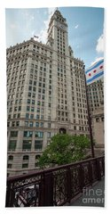 Wrigley Building Beach Towel