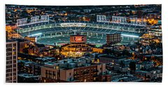 Wrigley Field From Park Place Towers Dsc4678 Beach Towel