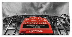 Wrigley Field - Home Of The Chicago Cubs # 3 - Selective Color Beach Towel