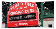 Wrigley Field Marquee Beach Towel