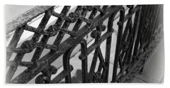Wrought Iron Fence Beach Towel