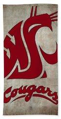 W S U Cougars Beach Towel