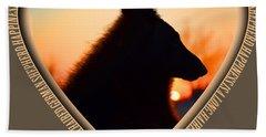 Wuffstar Happiness Is A Long Haired German Shepherd Heart Beach Towel