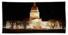 Beach Towel featuring the photograph Wv Capital Building by B Wayne Mullins