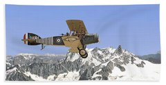 Beach Towel featuring the photograph Ww1 - Bristol Fighter by Pat Speirs