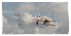 Beach Towel featuring the photograph Ww1 - The Fokker Scourge - Eindecker by Pat Speirs