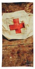 Ww2 Nurse Hat. Army Medical Corps Beach Towel