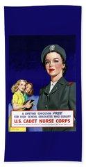 Ww2 Us Cadet Nurse Corps Beach Towel
