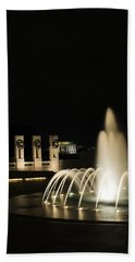 Beach Towel featuring the photograph Wwii Memorial Fountain by Angela DeFrias
